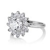 2.87ctw old European Cut Diamond Spray Ring GIA J SI1 1