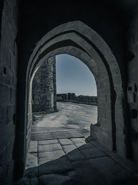 Arches in the Walled City - Carcassonne, France