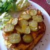 gross food exhibit one: pickles on an omelet (bauernfruestueck)