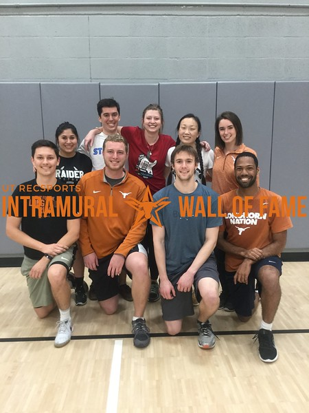 Spring 2018 Dodgeball Runner Up Quad Squad
