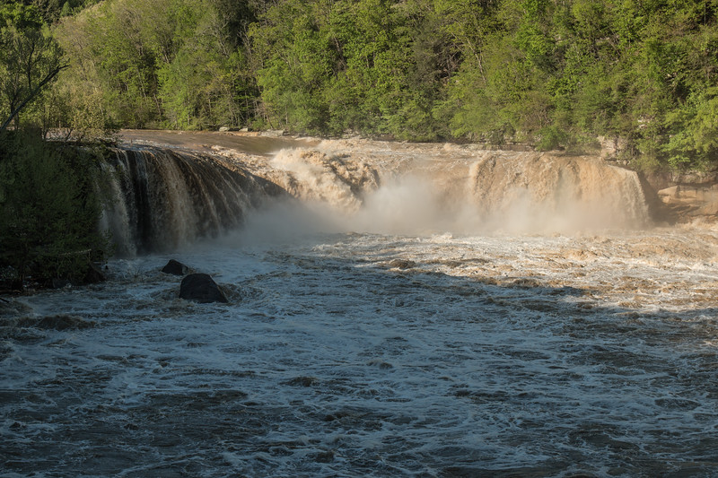 4-25-17.  The Falls were really raging! Compare to the Friday picture.