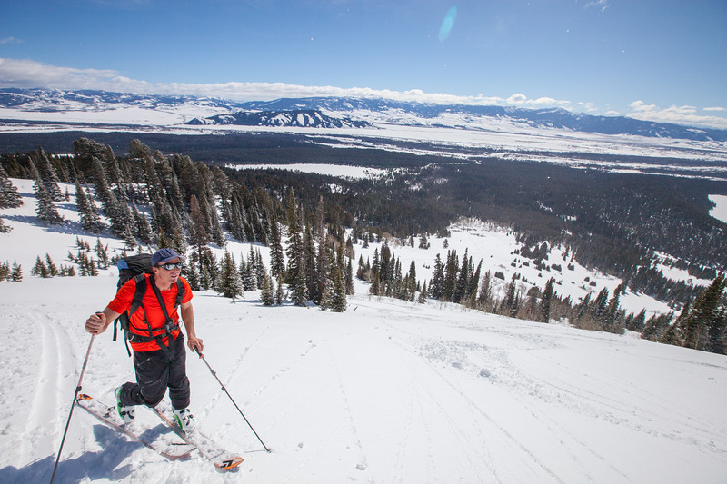 JACKSON HOLE, WY - Wimpies: Backcountry skiing with Exum Guides and Marmot testing Polartech Alpha