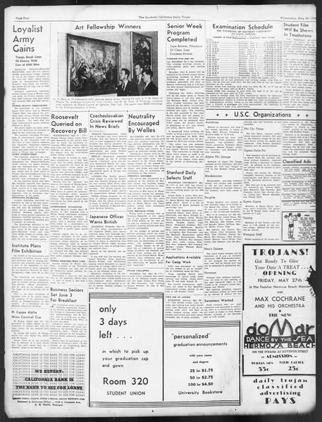 Daily Trojan, Vol. 29, No. 144, May 25, 1938