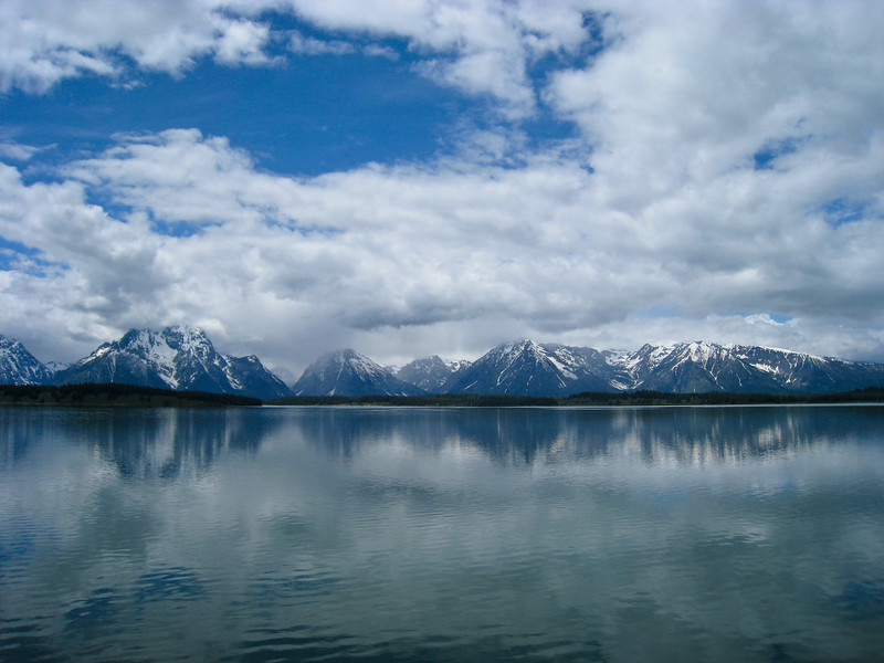 Jackson Lake and the Grand Tetons
