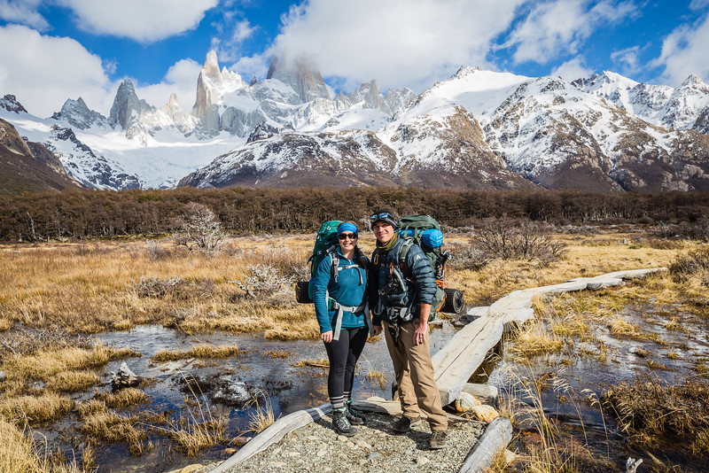 Divergent Travelers, Lina & David Stock in Patagonia