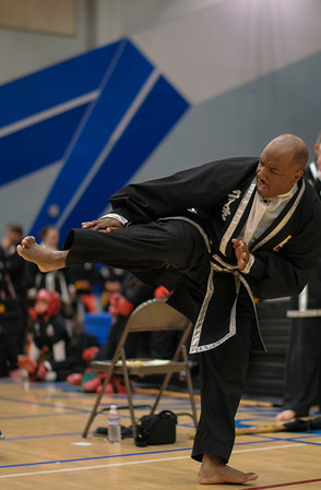 Adults competing at the Kuk Sool Won Pacific Coast Tournament, Folsom, CA.  2014-04-05