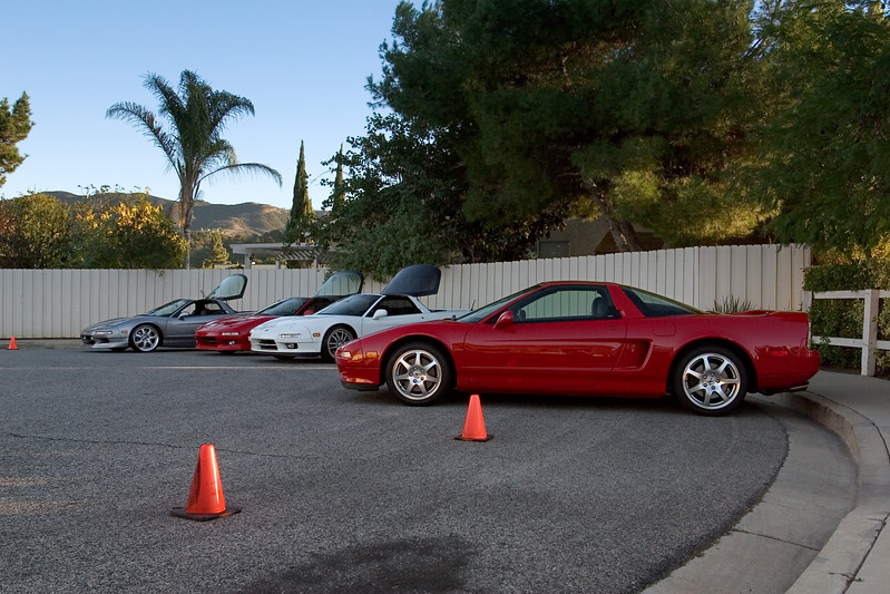 We choose more conventional parking spots