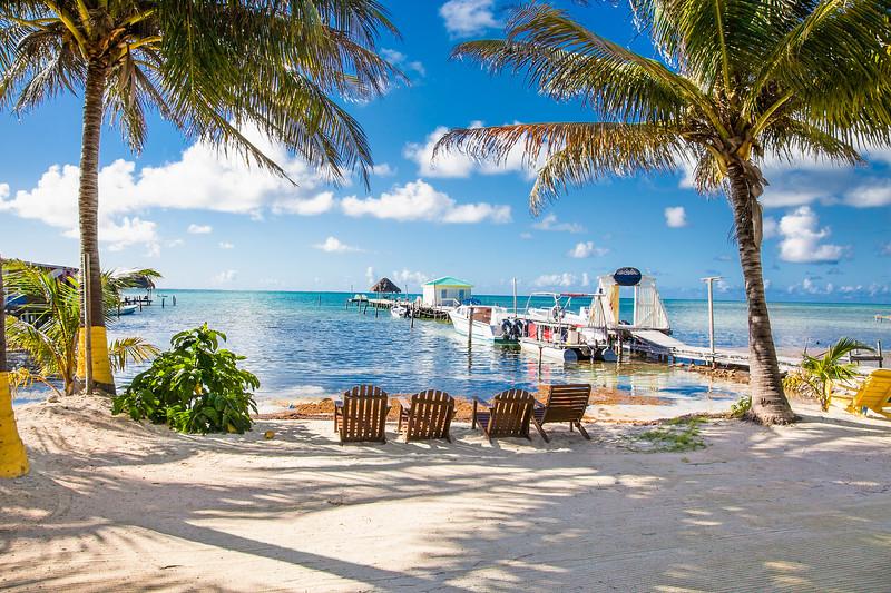 Resort Beach on Caye Caulker Belize