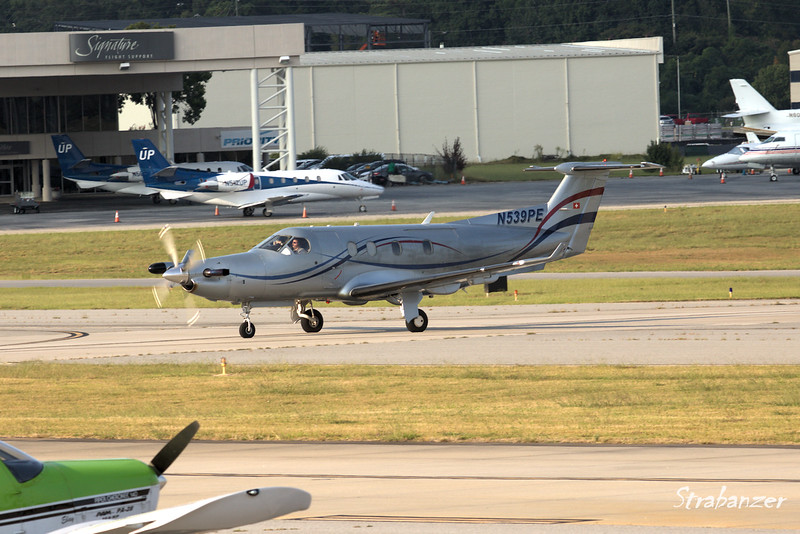 PILATUS PC-12/45 EPPS AIR SERVICE INC, ATLANTA , GA, US  Arriving from Shelby County, Alabama  KPDK, DeKalb, GA,   09/22/2017 This work is licensed under a Creative Commons Attribution- NonCommercial 4.0 International License