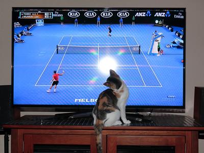 Amber watching tennis 01/25