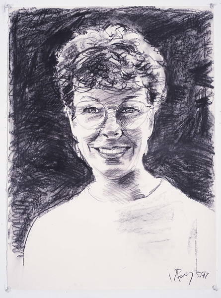 Portrait study - Pam S; charcoal, 22 x 30 in, 1997
