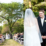 Wedding ceremony at Historic Highfield Hall. Photo by Bello Photography - The Casual Gourmet, Cape Cod Wedding Caterer