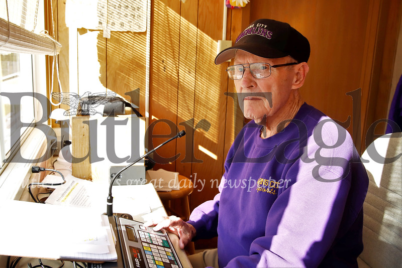 Karns City Announcer. Seb Foltz/Butler Eagle