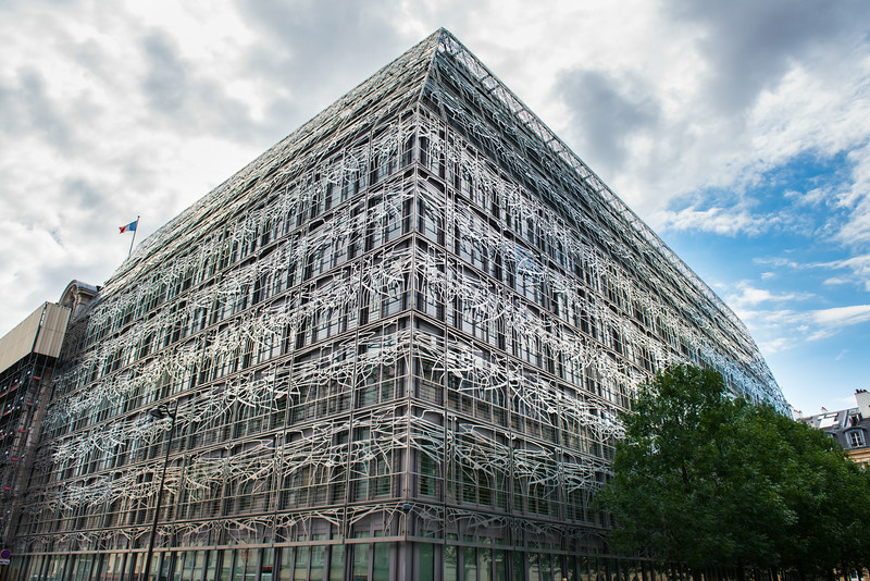 Modern Building near the Louvre in Paris