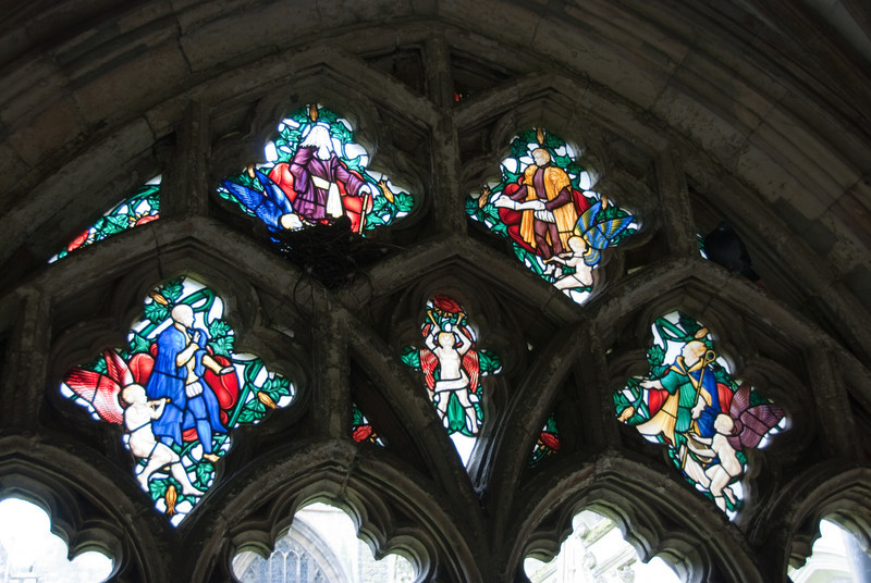 More stained glass in the cloisters.