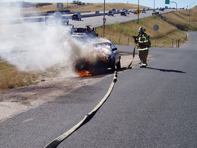 I-25 and Surry Drive Car Fire