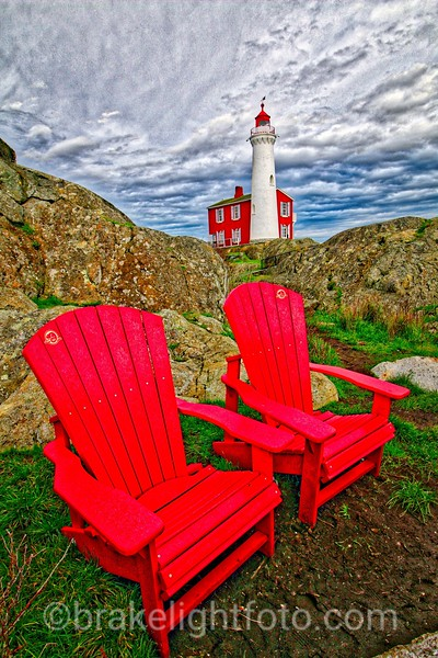 Fisgard Lighthouse & Canada Parks Red Chairs