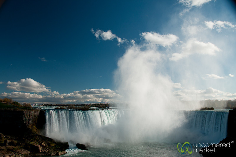 Looking Out Over Impressive Niagara Falls - Canada