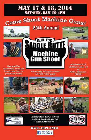 2014 ARPC Machinegun shoot!  May 17 - 18