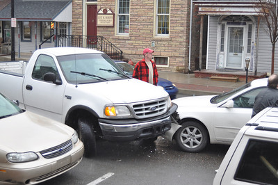 Two Vehicle Accident, West Broad St, Tamaqua (3-31-2011)