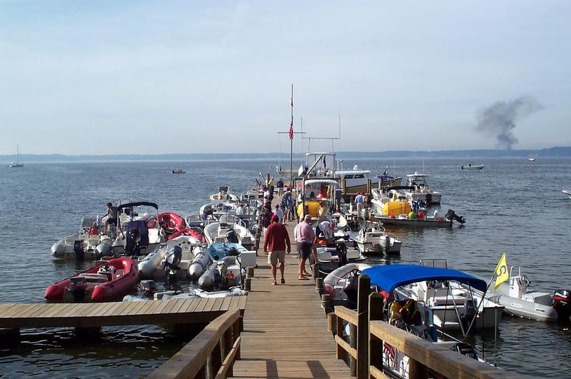 Fishing Bay dock before racing.