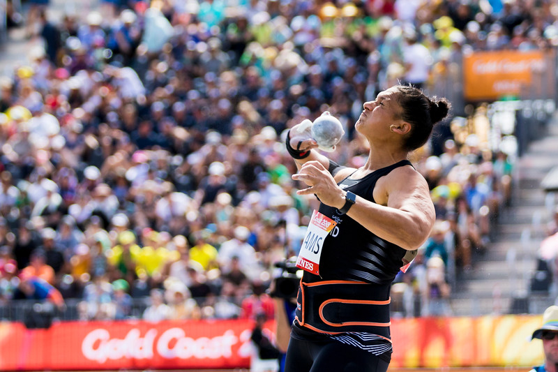 Dame Valerie Adams qualifies for the Shot Put Final at the 2018 Commonwealth Games. Gold Coast, Australia. Copyright photo: Alisha Lovrich / www.photosport.nz