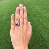 3.27ctw Burma No-heat Ruby Cluster Ring, GIA cert 7