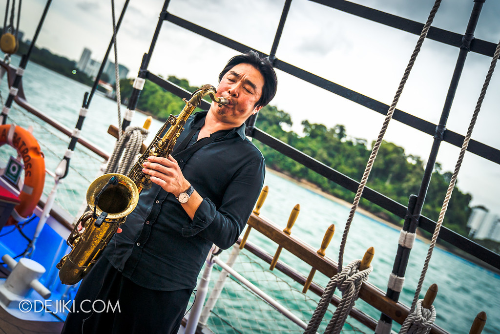 Royal Albatross Tall Ship Cruise - Sunset Sail - Saxaphone wide
