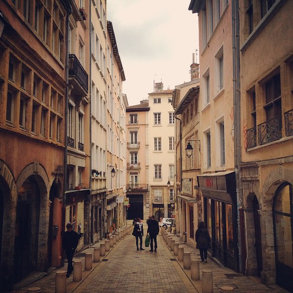 The back streets of old town Lyon, muted colors like a few sticks out of a box of Crayola crayons, earth tones and pastels. Time to turn on some Jacques Brel and Edith Piaf and recount all the dishes we've eaten, all the wines we've tasted. via Instagram http://ift.tt/1EnIUzJ