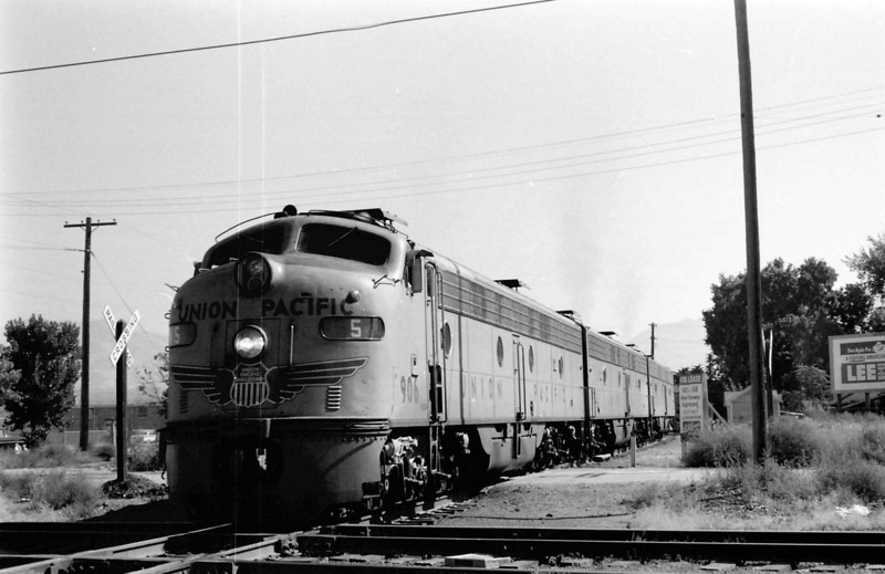 UP at Ninth South, crossing D&amp;RGW passenger line. <i>(Dave England Photo)</i>