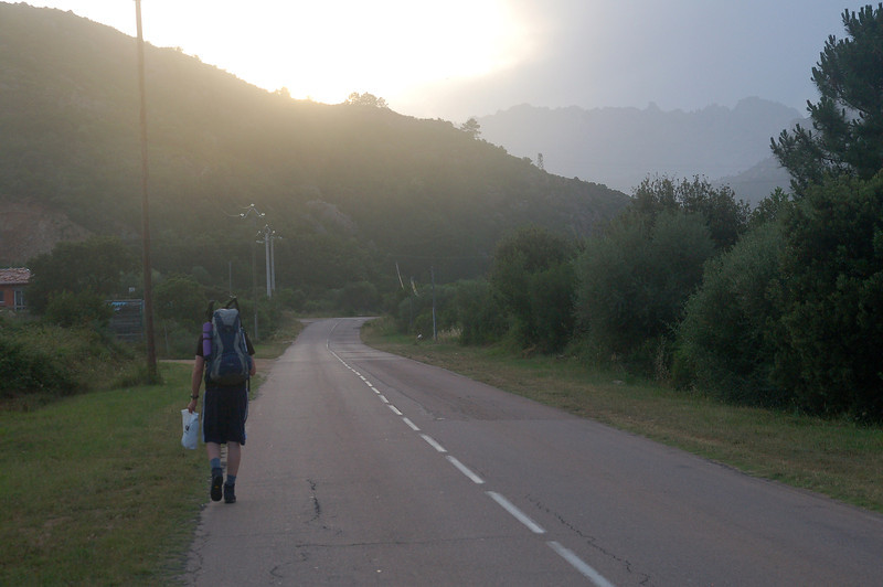 6km walk from Ste Lucie (Porto Vecchio) to Conca and the beginning of the GR20