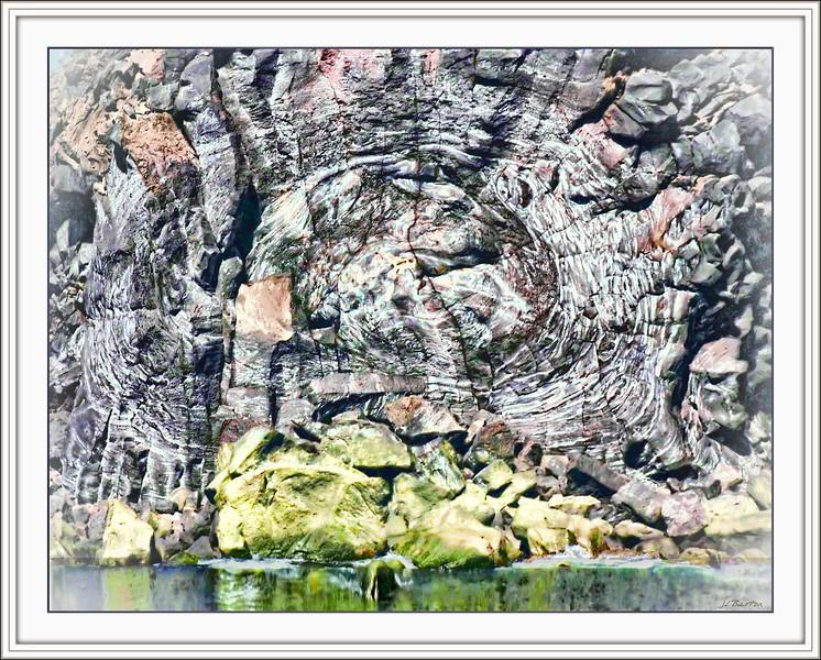 Swirled Lava Heimey - nature does wierd things