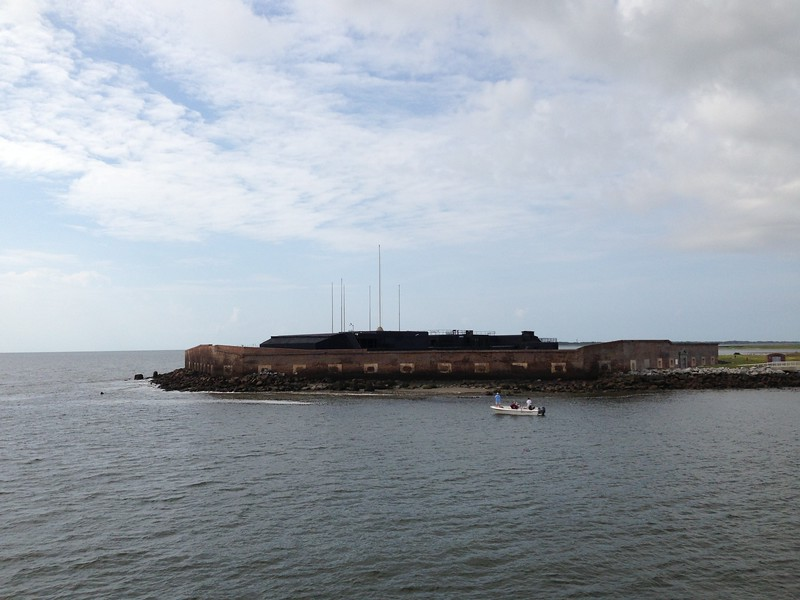 Naval approach to Fort Sumter - Leslie Rowley