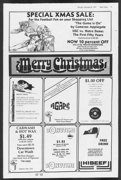 Daily Trojan, Vol. 72, No. 53, December 08, 1977