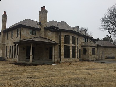 DaVinci Slate Roof , Aluminum Gutters and Masonry - Glenview IL
