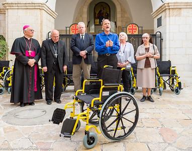 Latin Patriarchate Mass & Wheelchair Distribution