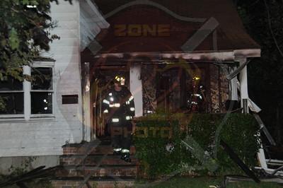 Hempstead F.D. Working Fire 16 Searing St. 9/6/14