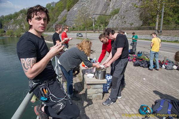 2014-04 Climbing in Yvoir (B)