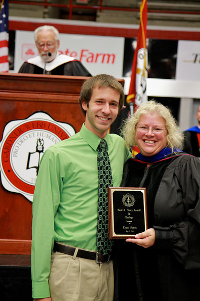 56th Annual Academic Awards Day Ceremony. Paul J. Stacy Award in Biology: Ryan Matthew Jones