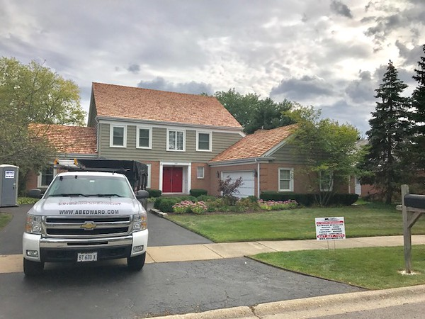 Cedar shake roofing project located in Glenview, IL