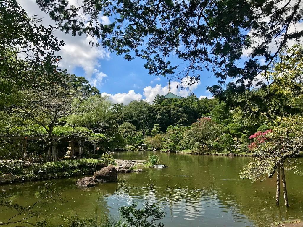 Inside Naritasan Park.