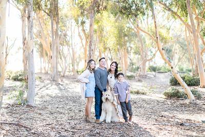 La Jolla UCSD Eucalyptus Family Photographs - Holiday Card/Fall Photos 2019