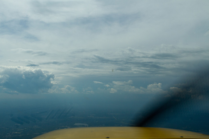 Shooting the gap - diverting west out to a line between Framingham and Fitchburg to get far from the thunderstorm over Boston.  After this point it got too turbulence and the autopilot couldn't fly anymore so I put the camera down for good :)