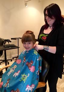 Lizzie Donates Her Hair