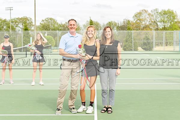 USJ Tennis Senior Night 4-11-19
