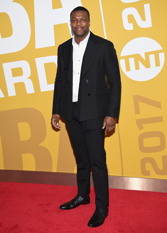 . Chris Tucker arrives at the NBA Awards at Basketball City at Pier 36 on Monday, June 26, 2017, in New York. (Photo by Evan Agostini/Invision/AP)