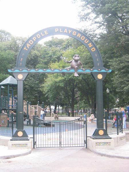 Tadpole Playground. Boston Common, Boston