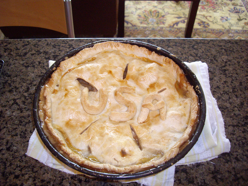 July 4th apple pie.