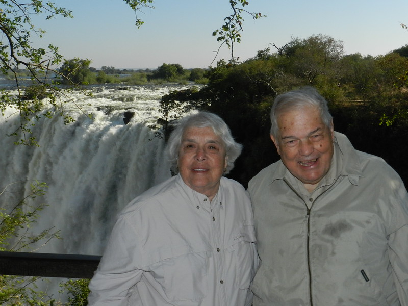 117 Chet and Anne at Vic Falls - Anne Davis