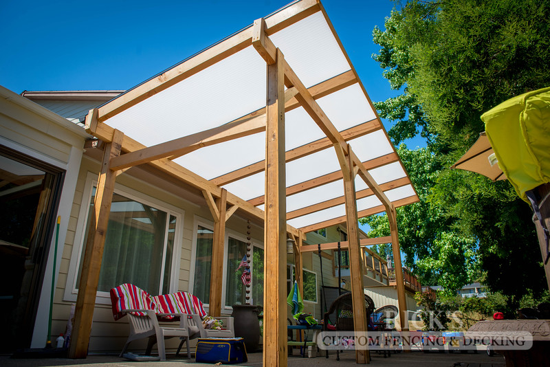 5163 - Wood-Framed Patio Cover with Acrylic Paneling